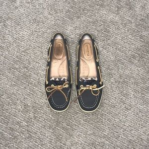 Sperry Top-Sider Black with Cheetah; Size 7.5 m